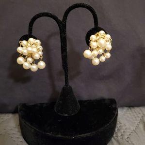 Vintage 50s/60s Faux-Pearl Dangle Earrings